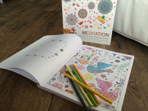 Malbuch für Erwachsene Meditation