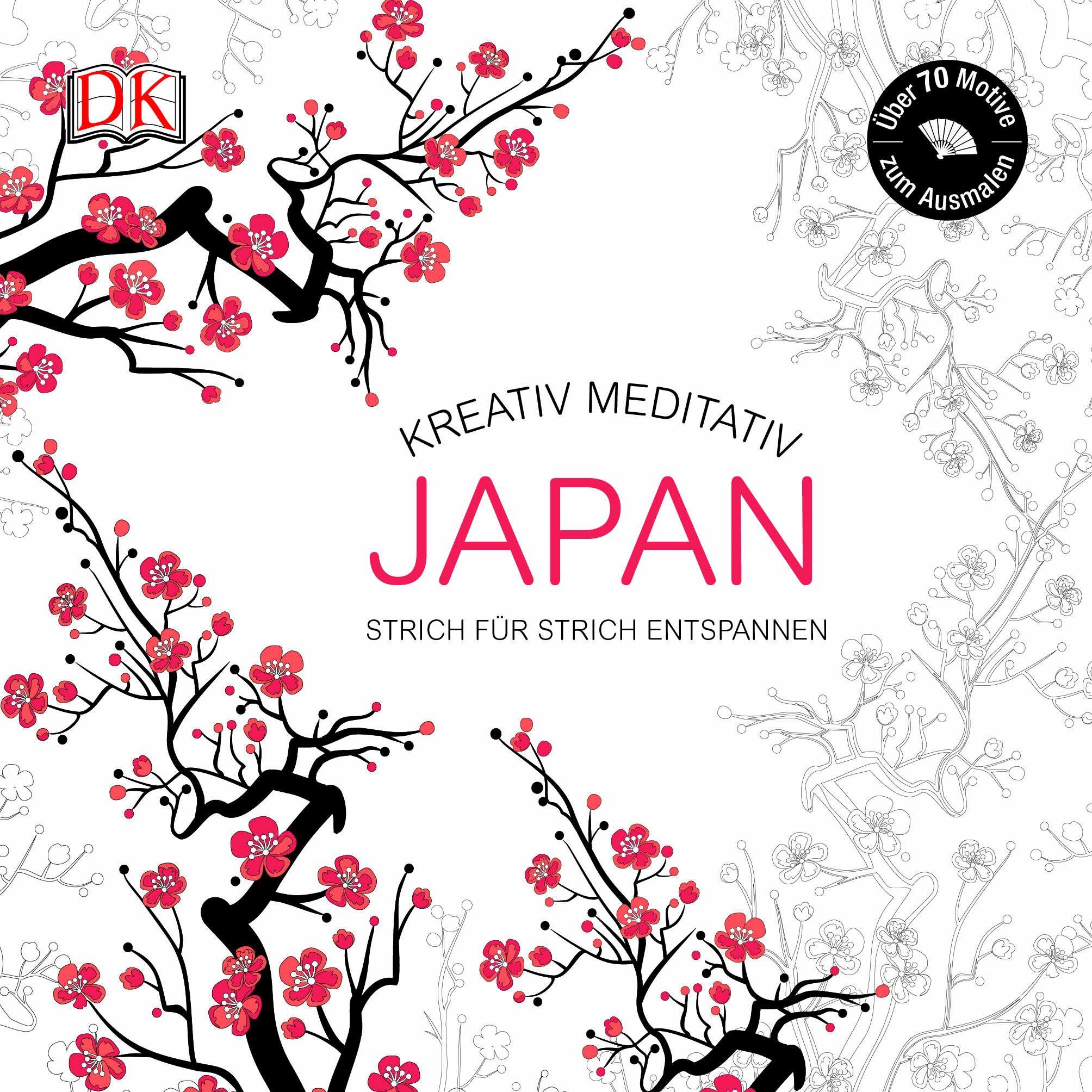 Ausmalbuch für Erwachsene Japan