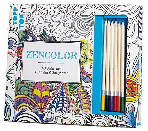 Malset für Erwachsene mit Farbmalstiften