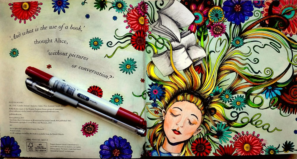 Escape to Wonderland - A colouring book Adventure - Malbuch für Erwachsene - ausgemalt von Nicole