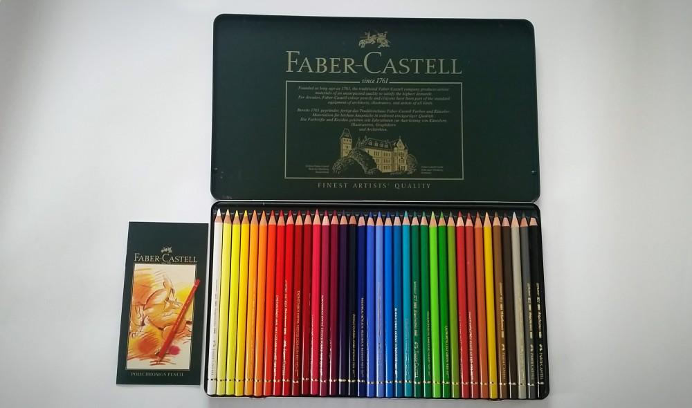 Faber-Castell Polychromos 36 Metalletui geöffnet Test