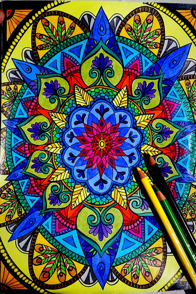 Faber-Castell Polychromos 36 - Beispielbild Mandala