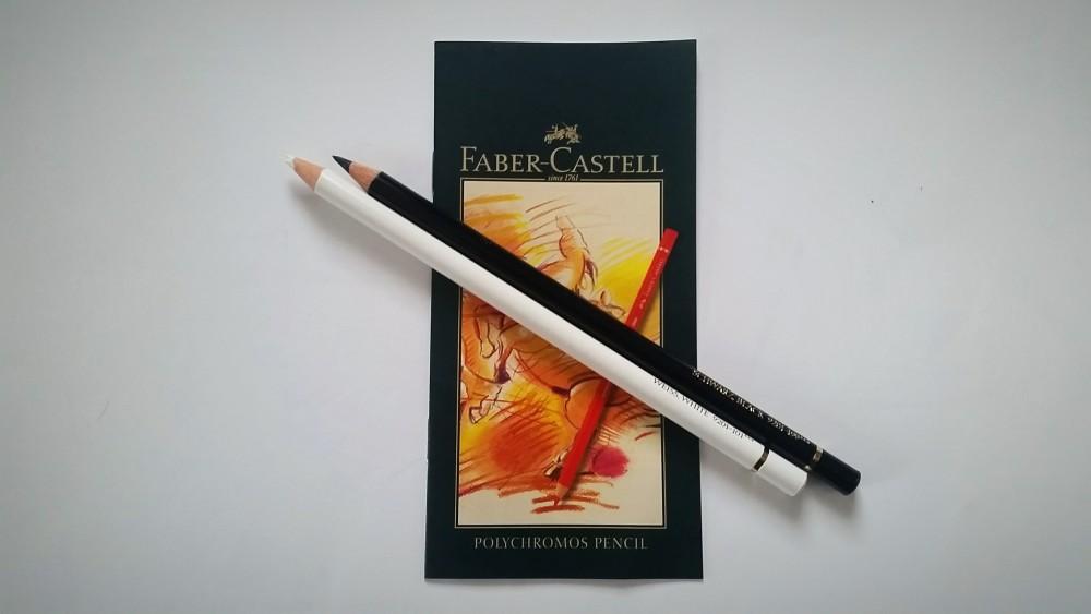 Faber-Castell Polychromos 36 - Weiß und Schwarz