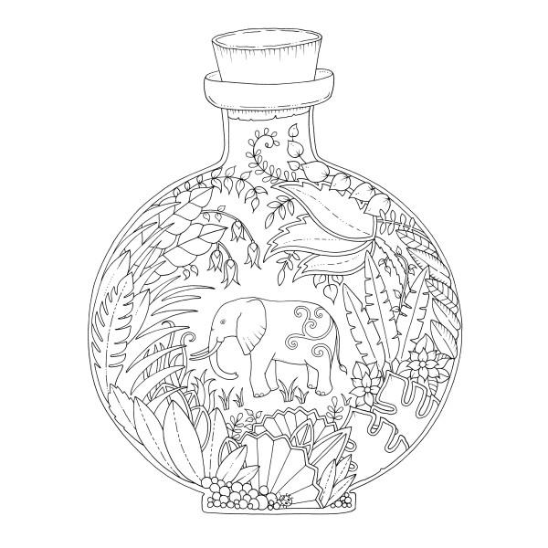 Magical Jungle - Johanna Basford Motiv Vase