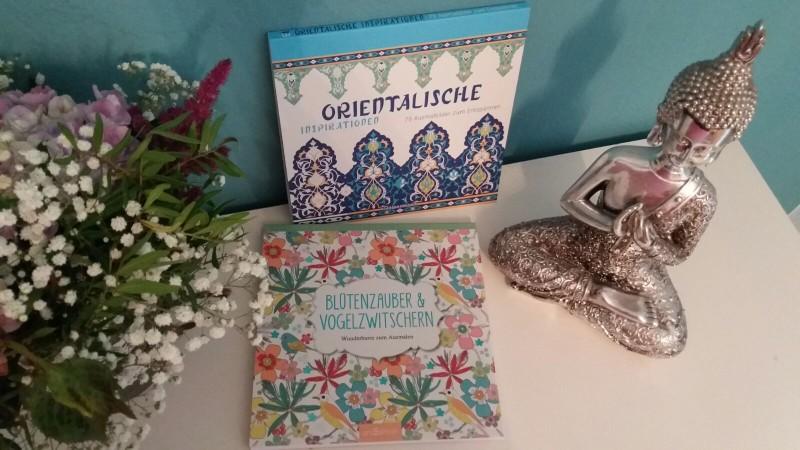 Verlosung 2 Malbuch für Erwachsene - Blütenzauber & Vogelzwitschern - Orientalische Inspirationen, 70 Ausmalbilder zum Entspannen
