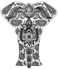 Mandalas zum Ausdrucken für Erwachsene gratis Elefant