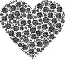 Mandalas zum Ausdrucken für Erwachsene kostenlos Herz