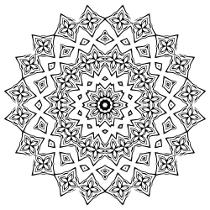Mandalas zum Ausdrucken für Erwachsene kostenlose Malvorlage Mandala