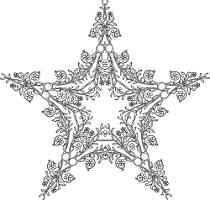 Mandalas zum Ausdrucken für Erwachsene gratis Ausmalbuch Stern