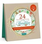 Postkarten zum Ausmalen für Erwachsene 24 weihnachtliche mandalas