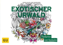 Postkarten zum Ausmalen für Erwachsene Exotischer UrwaldPostkarten zum Ausmalen für Erwachsene Exotischer Urwald