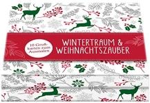 Postkarten zum Ausmalen für Erwachsene Wintertraum und Weihnachtszauber