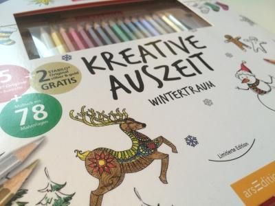 Kreative Auszeit Wintertraum - Stabilo arsEdition - Malbuch für Erwachsene Cover