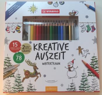 Kreative Auszeit Wintertraum - Stabilo arsEdition - Malbuch für Erwachsene