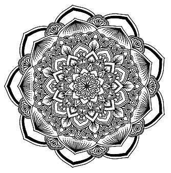 Mandala Malbuch für Erwachsene schwierig
