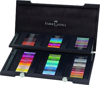 110013 Faber Castell Polychromos 120 Farbstifte im edlen Holzkoffer