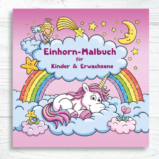 einhorn Malbuch für Erwachsene und Kinder